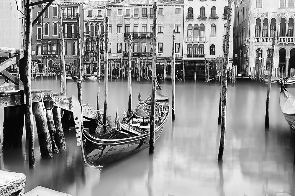 Black and white gondola