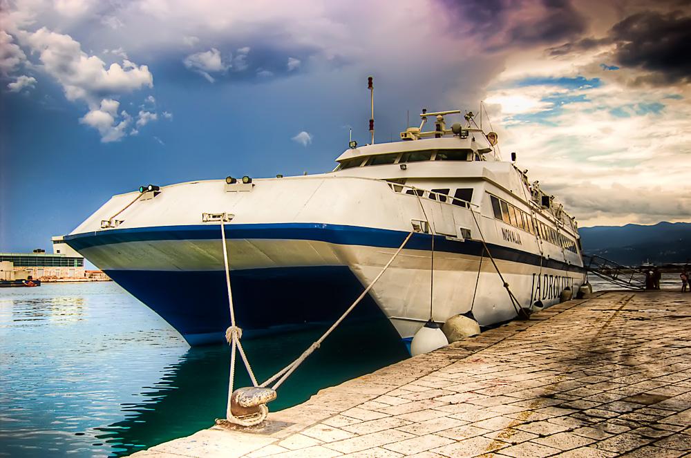 Boat in Rijeka