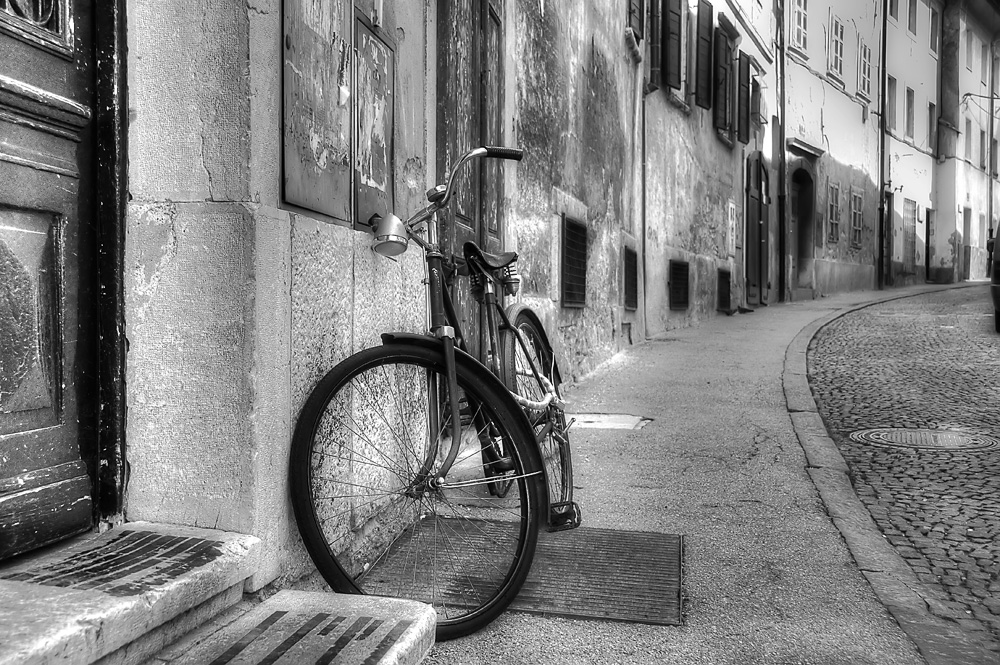 Old bike in Ljubljana