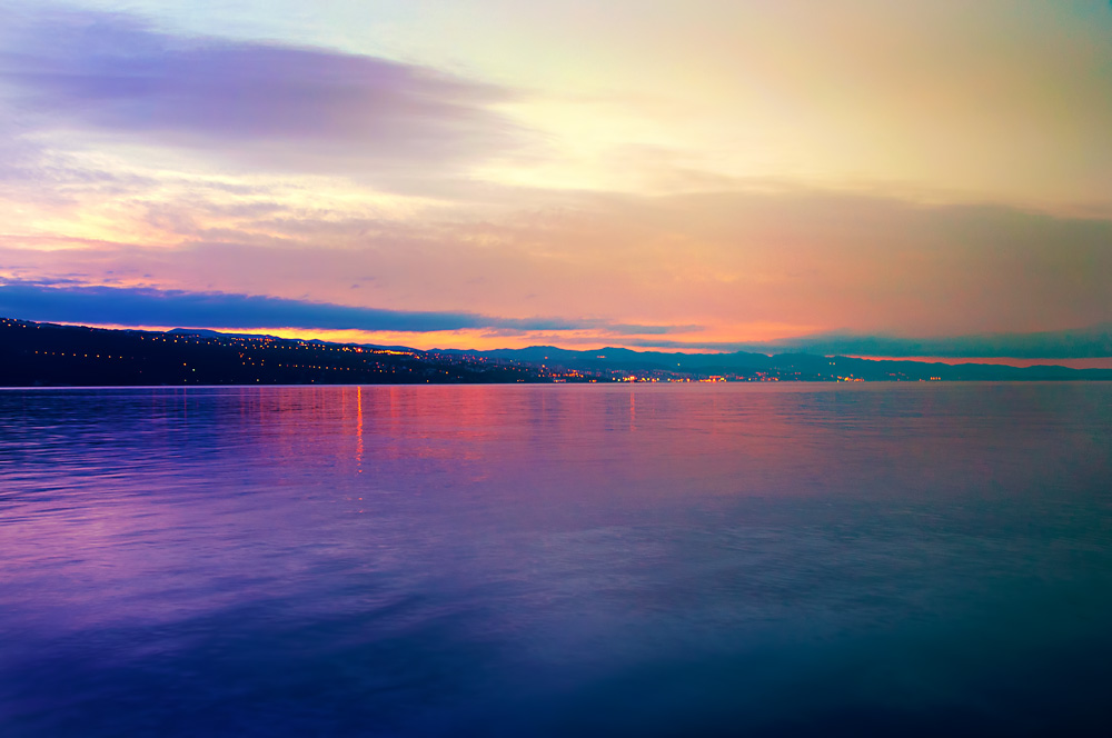 Amazing sky colors during sunrise