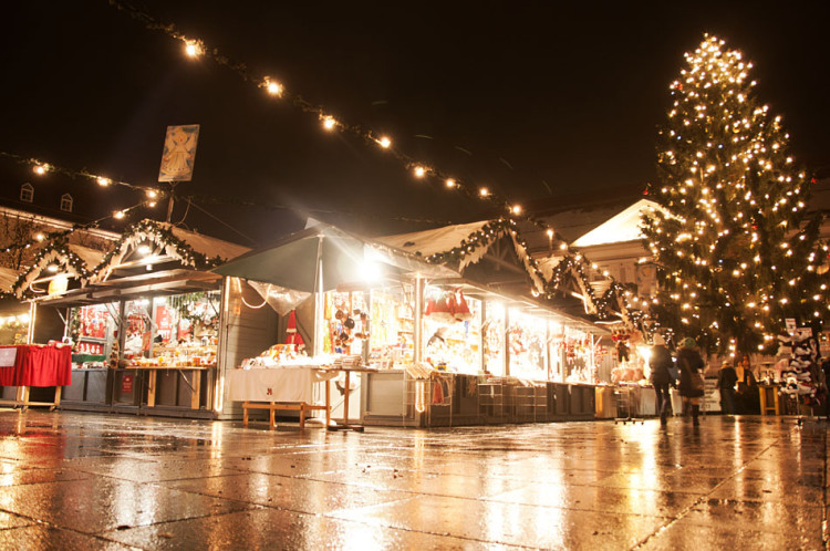 Kiosk at Christmas Market in Klagenfurt