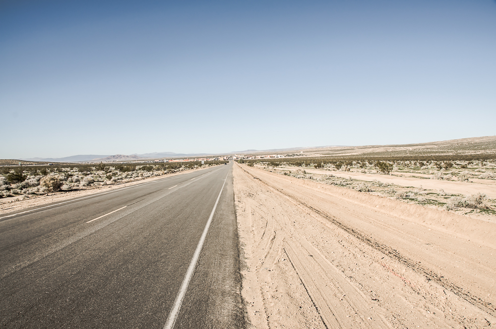 Desert road in Nevada