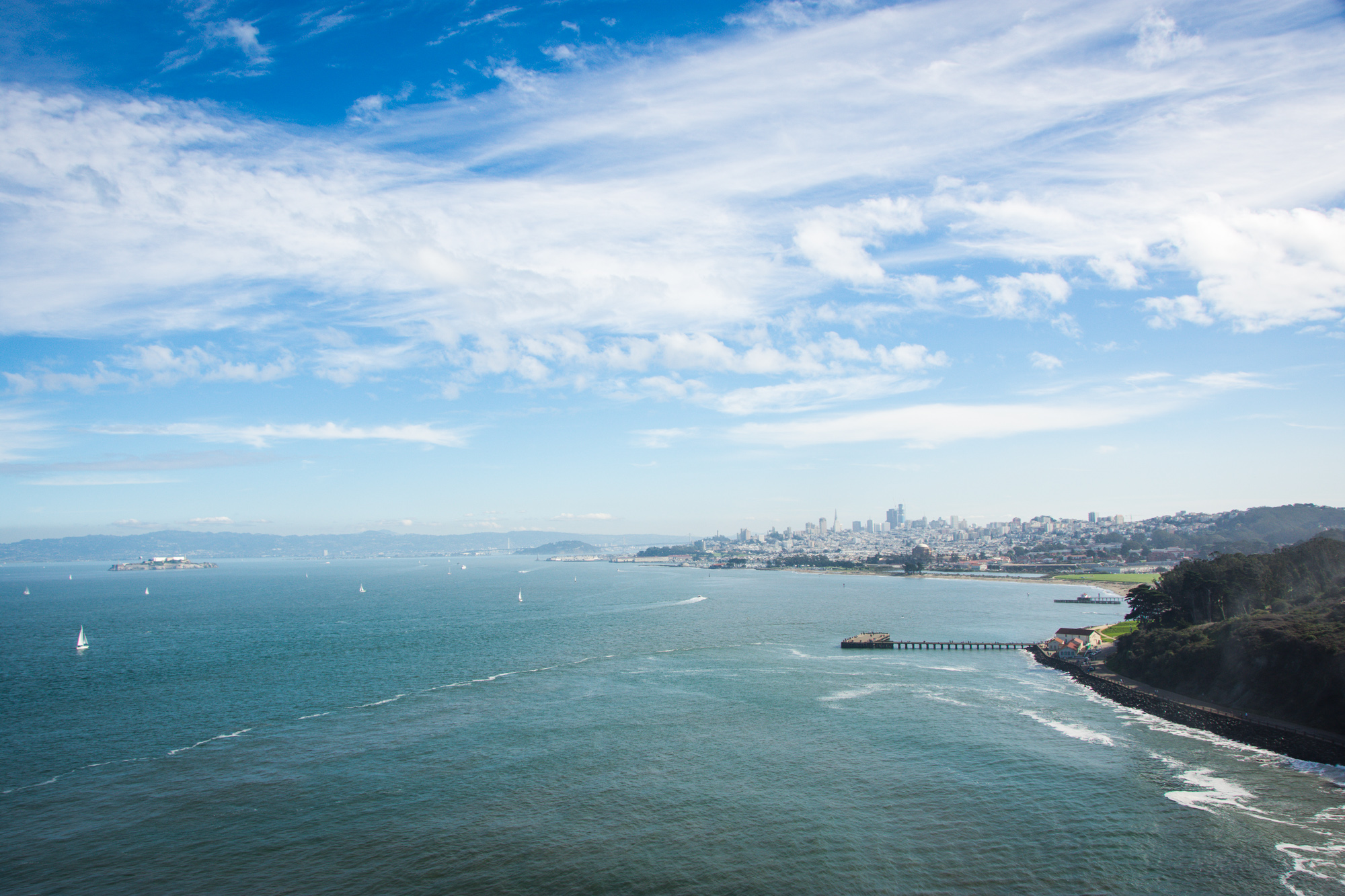 A landscape view from Golden Gate Bridge