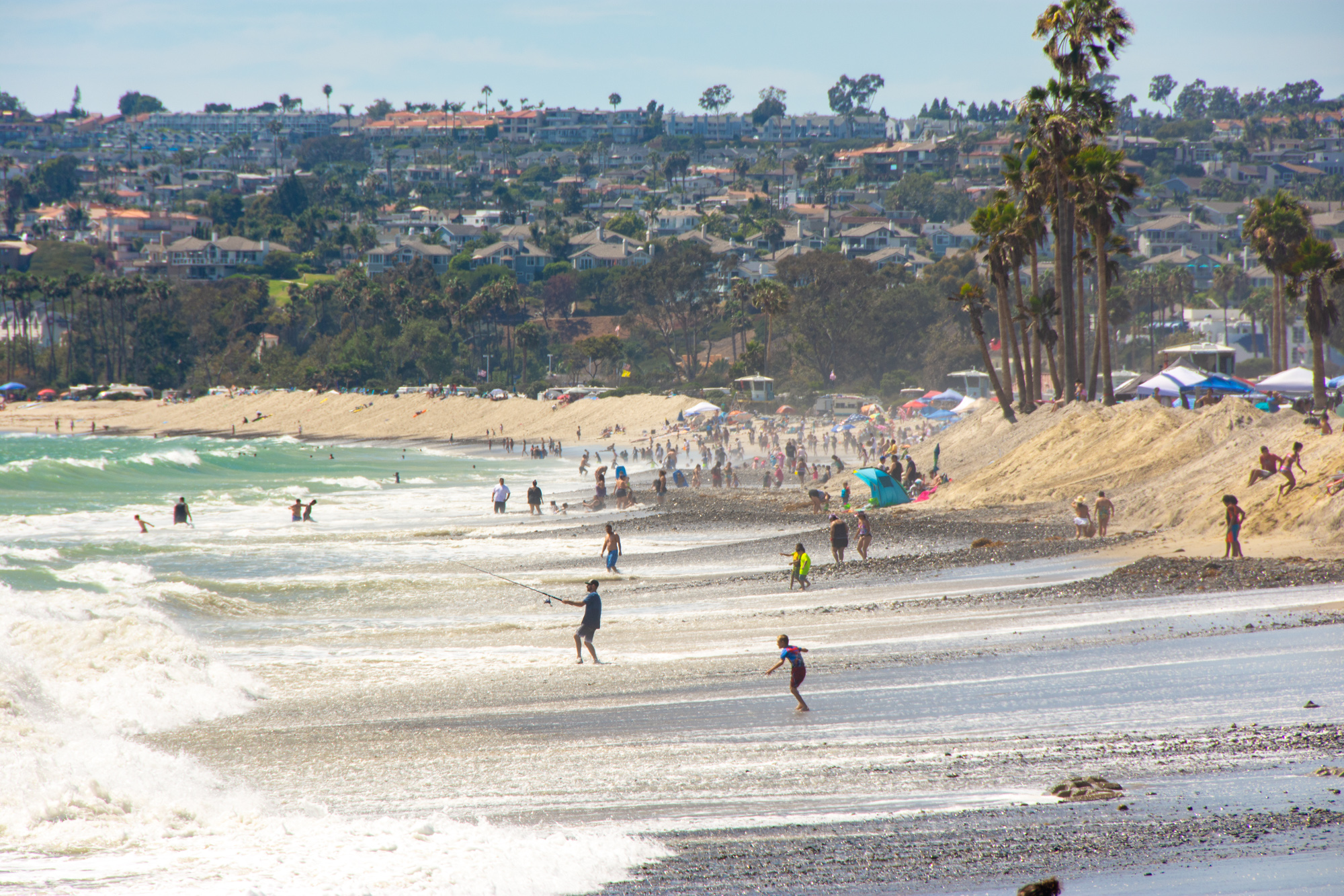 Enjoy a beach day at Capistrano